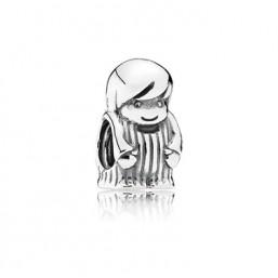 Pandora Niño charm en plata.