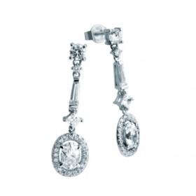Diamondfire pendientes en plata y circonitas