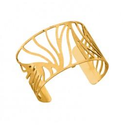 Les Georgettes brazalete Perroquet de 40mm en dorado mate