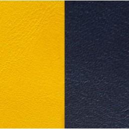 Les Georgettes cuero de 14 mm en Azul Marino-Amarillo Fuerte