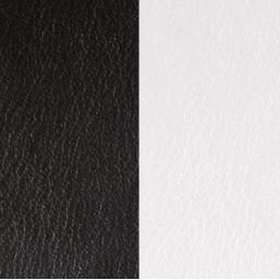 Les Georgettes cuero de 40 mm en Blanco-Negro