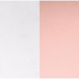Les Georgettes cuero de 14 mm reversible en color Gris claro y Rosa claro
