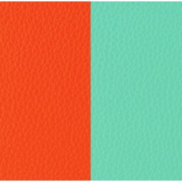 Les Georgettes cuero de 25 mm reversible en color Naranja y Azul Nimbo