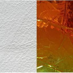 Les Georgettes cuero de 25 mm reversible en color Blanco y Láser