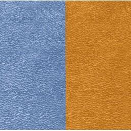 Les Georgettes cuero de 14 mm reversible en color Azul Vaquero y Caramelo