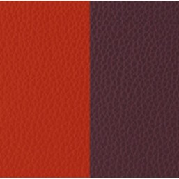 Les Georgettes cuero de 25mm reversible en color Rojo Anaranjado y Marrón Rosado
