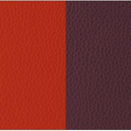 Les Georgettes cuero de 14mm reversible en color Rojo Anaranjado y Marrón Rosado