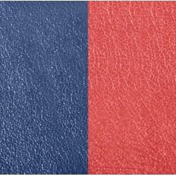 Les Georgettes cuero de 14mm reversible en color Azul Petróleo y Frambuesa