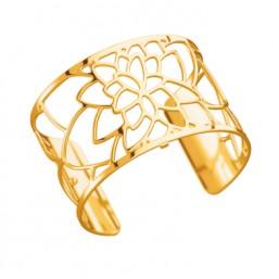Les Georgettes brazalete Nenuphar de 40mm en dorado