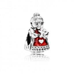 Pandora Señora de Santa Claus abalorio