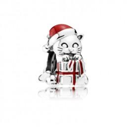 Pandora Gatito de Navidad abalorio
