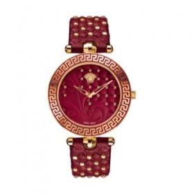 Versace Vanitas Rojo reloj mujer analógico de mujer en piel.