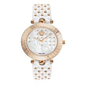 Versace Vanitas Blanco reloj analógico de mujer en piel