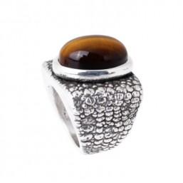 Plata Pura anillo de mujer textura de serpiente.