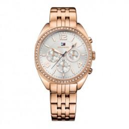 """Tommy Hilfiger reloj de mujer """"Mia"""" en acero acabado rosa"""