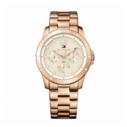 """Tommy Hilfiger reloj de mujer """"Tessa"""" en acero acabado rosa"""
