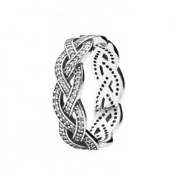 Pandora anillo Trenzado en plata.