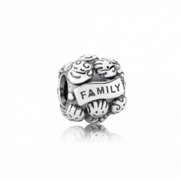 "Pandora charm ""Amor y Familia"" en plata"