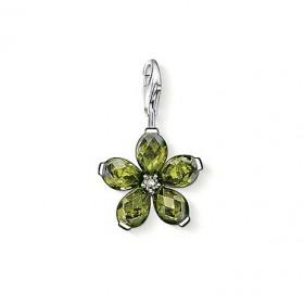 "Thomas Sabo charm ""Flor Verde"" para pulsera"