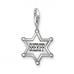 "Thomas Sabo ""Estrella de Sheriff"" charm en plata para pulsera."