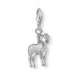 Thomas Sabo charm en plata Signo del Zodiaco Aries.
