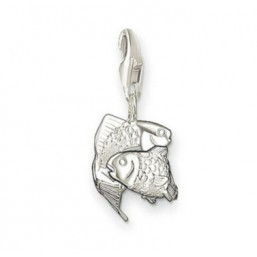Thomas Sabo charm en plata del Signo del Zodiaco Piscis