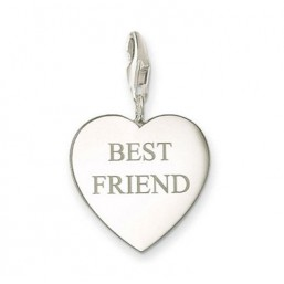 "Thomas Sabo charm para pulsera ""Best Friend"" en plata."