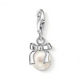 Thomas Sabo charm Lazo con perla en plata.