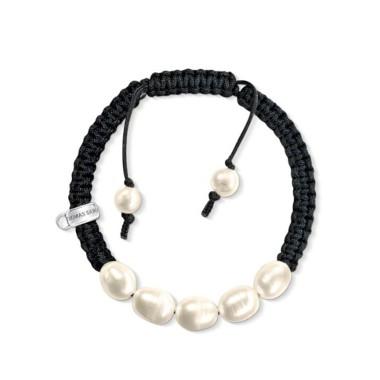 commercialisable professionnel de premier plan qualité de la marque Thomas Sabo pulsera de mujer en cordón y perlas.