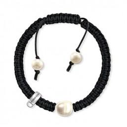 Thomas Sabo pulsera de mujer en cordón y perlas.
