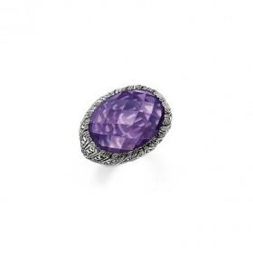 Thomas Sabo anillo de plata con amatista.