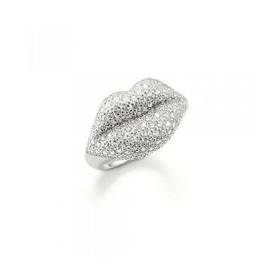 Thomas Sabo anillo en plata y circonitas.
