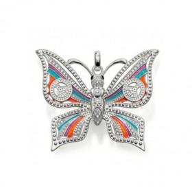 """Thomas Sabo colgante """"Mariposa"""" en plata y esmalte de colores."""