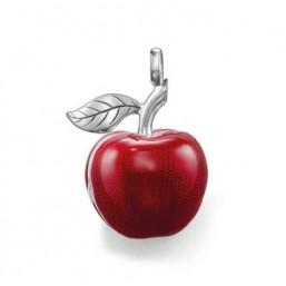 Thomas Sabo colgante de Manzana para collar en plata y esmalte.