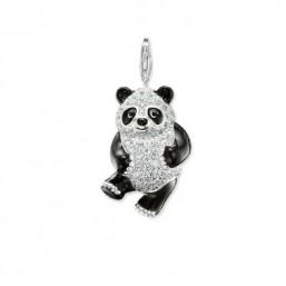 """Thomas Sabo colgante """"Oso Panda"""" en plata , esmalte y circonitas."""
