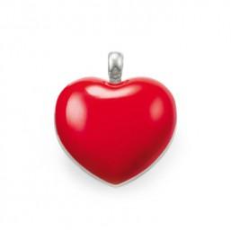 Thomas Sabo colgante de Corazón para collar en plata y esmalte rojo.