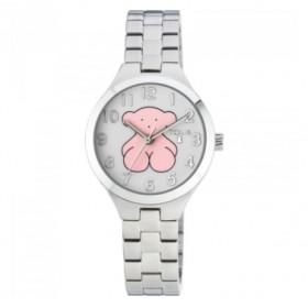 Tous Muffin reloj analógico de niña en acero.