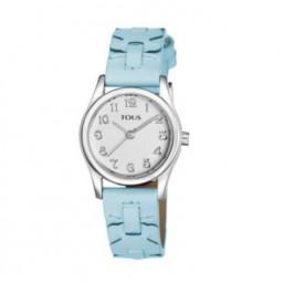 Tous Cruise azul reloj analógico de niña en piel.