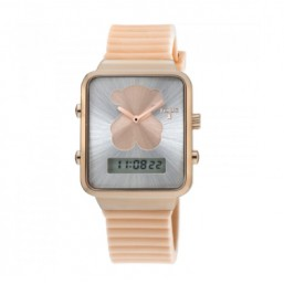 Tous I-Bear reloj analógico y digital en silicona nude.
