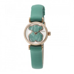 Tous Camille reloj analógico de mujer con correa de piel verde.
