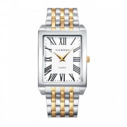 Viceroy reloj analógico de caballero de estilo clásico en acero bicolor.
