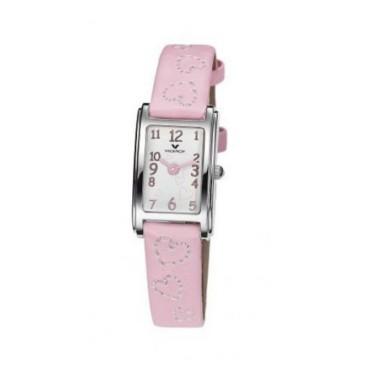 Viceroy reloj analógico de niña con correa en piel rosa.