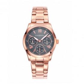 Viceroy Colección Chic reloj multifunción de mujer en acero rosa.