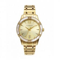 Viceroy Femme reloj analógico de mujer en acero dorado.