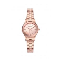 Viceroy reloj analógico de mujer en acero con IP rosa.