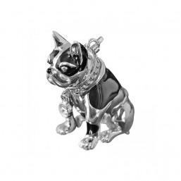 """Thomas Sabo """"Bulldog"""" colgante para collar en plata y esmalte."""
