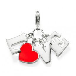 """Thomas Sabo """"Love"""" colgante para collar en plata y esmalte rojo."""