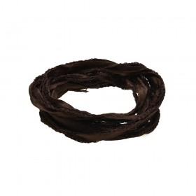 Thomas Sabo cinta de seda en color marrón.