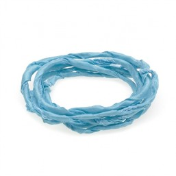 Thomas Sabo cinta de seda en color azul celeste.