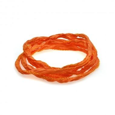 Thomas Sabo cinta de seda en color naranja.
